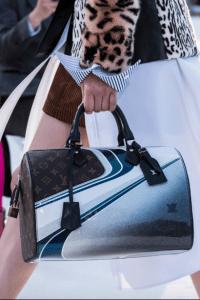 Louis Vuitton Blue/Silver Vernis and Monogram Canvas Speedy Bag - Cruise 2018