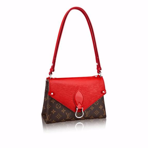 Louis Vuitton Coquelicot Epi/Monogram Canvas Saint Michel Bag