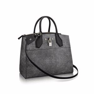 Louis Vuitton Gray Epi Jean City Steamer MM Bag