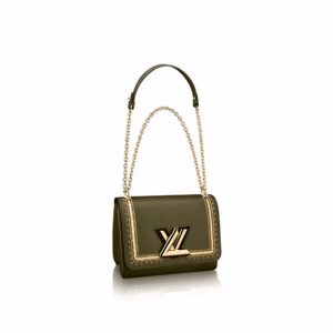 Louis Vuitton Green/Gold Embroidered Twist PM Bag