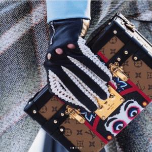 Louis Vuitton Monogram Reverse with Kabuki Eyes Petite Malle Bag - Cruise 2018