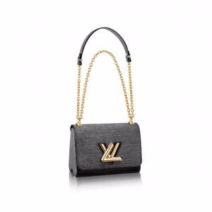 Louis Vuitton Noir Epi Jean Twist MM Bag