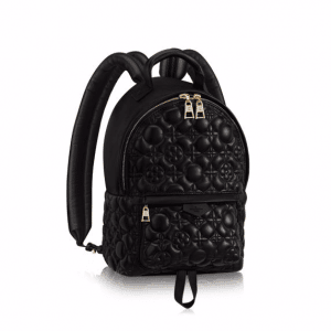 Louis Vuitton Noir Matelasse Flower Malletage Palm Springs PM Backpack Bag