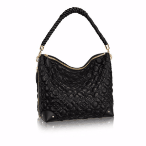 Louis Vuitton Noir Matelasse Flower Malletage Triangle Softy Bag