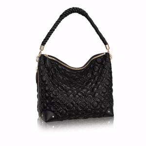 Louis Vuitton Noir Matelasse Flower Malletage Triangle Softy Bag