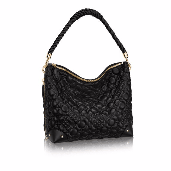 louis vuitton bags prices. louis vuitton noir matelasse flower malletage triangle softy bag bags prices
