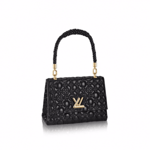 Louis Vuitton Noir Matelasse Flower Malletage Twist GM Bag