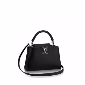 Louis Vuitton Noir Studded Capucines BB Bag