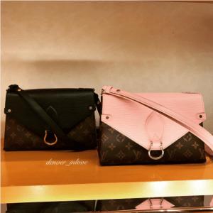 Louis Vuitton Noir and Rose Ballerine Epi/Monogram Canvas Saint Michel Bag