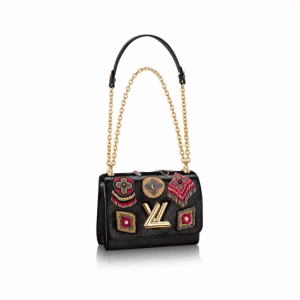 Louis Vuitton Noir/Gold Beaded Twist MM Bag