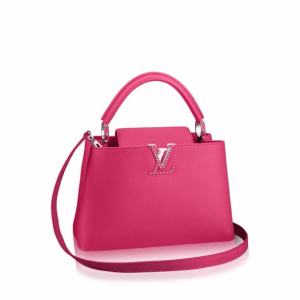 Louis Vuitton Pink Studded Capucines PM Bag