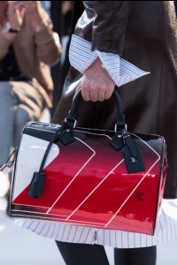 Louis Vuitton Red/White Vernis Speedy Bag - Cruise 2018