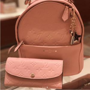 Louis Vuitton Rose Ballerine Monogram Empreinte Sorbonne Backpack Bag 3