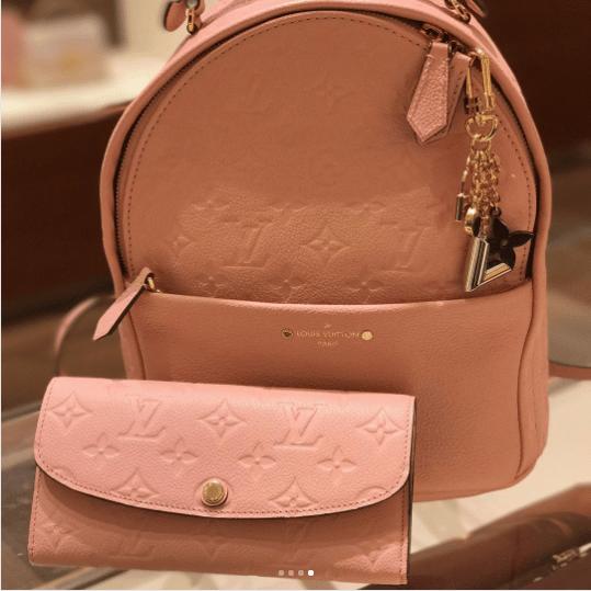 936a3f3ca629 IG  rnloveslv. Louis Vuitton Rose Ballerine Monogram Empreinte Sorbonne  Backpack Bag 6