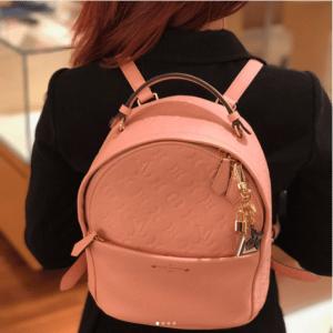 Louis Vuitton Rose Ballerine Monogram Empreinte Sorbonne Backpack Bag 5
