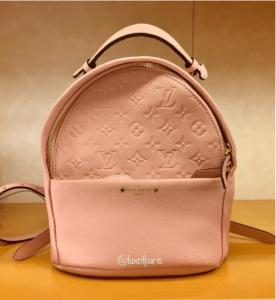Louis Vuitton Rose Ballerine Monogram Empreinte Sorbonne Backpack Bag 6