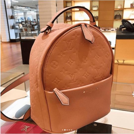 898eaa21922e Louis Vuitton Rose Ballerine Monogram Empreinte Sorbonne Backpack Bag 7. IG   miba branded