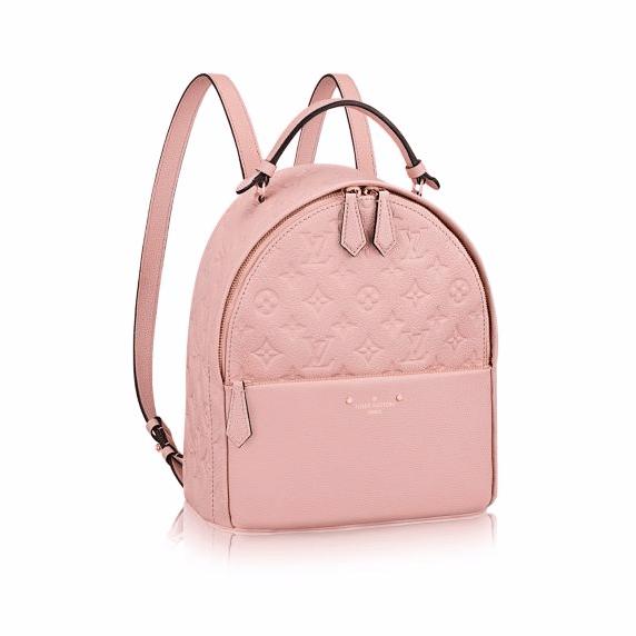 Louis Vuitton Rose Ballerine Monogram Empreinte Sorbonne Backpack Bag