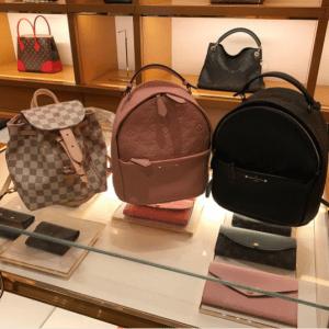 Louis Vuitton Rose Ballerine and Noir Monogram Empreinte Sorbonne Backpack Bags