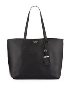 Prada Black City Large Shopping Tote Bag