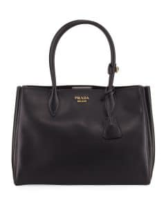Prada Black Medium Bibliotheque Bag