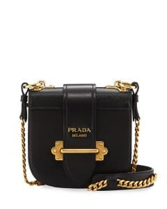 Prada Black Mini Curved Crossbody Bag