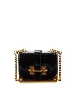 Prada Black Spazzolato Micro Cahier Bag