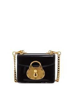 Prada Black Spazzolato Micro Lock Bag