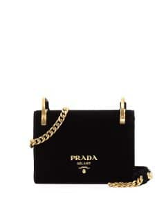 Prada Black Velvet Cahier Bag