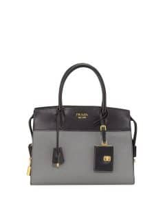 Prada Black/Gray Medium Esplanade Bag