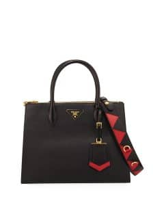 Prada Black/Red Paradigme Tote Bag
