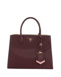 Prada Bordeaux/Pink Paradigme Tote Bag