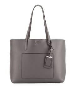 Prada Gray City Large Shopping Tote Bag