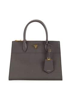 Prada Gray Paradigme Tote Bag