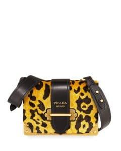 Prada Leopard Velvet Small Cahier Bag