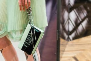 Prada Light Green/Black Clutch Bag - Resort 2018