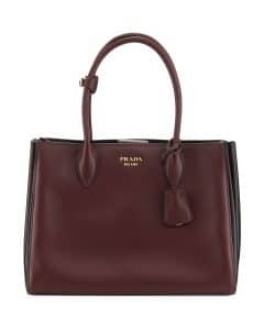Prada Red/Black Medium Bibliotheque Bag