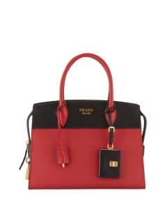 Prada Red/Black Medium Esplanade Bag