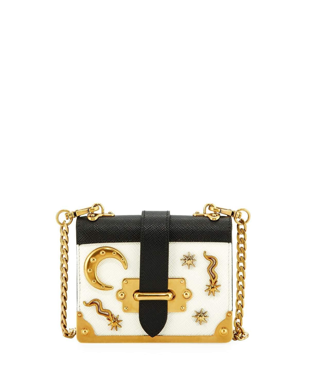 afef91760c0d ... low price prada white black dream micro cahier bag 9e50d 04c2f