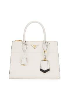 Prada White/BlackParadigme Tote Bag