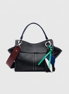 Proenza Schouler Black Curl Top Handle Bag