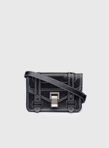 Proenza Schouler Black PS1+ Mini Crossbody Bag