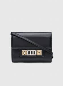 Proenza Schouler Black PS11 Wallet On A Strap Bag