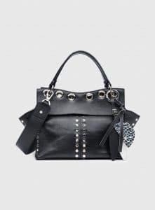 Proenza Schouler Black Studded Curl Top Handle Bag