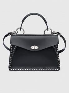 Proenza Schouler Black Studded Hava Medium Top Handle Bag