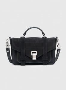 Proenza Schouler Black Suede PS1+ Tiny Bag