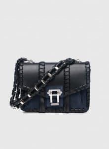 Proenza Schouler Black/Indigo Leather/Suede Hava Chain Bag