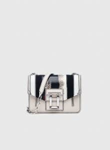 Proenza Schouler Clay Leather/Printed Ayers Hava Chain Crossbody Bag