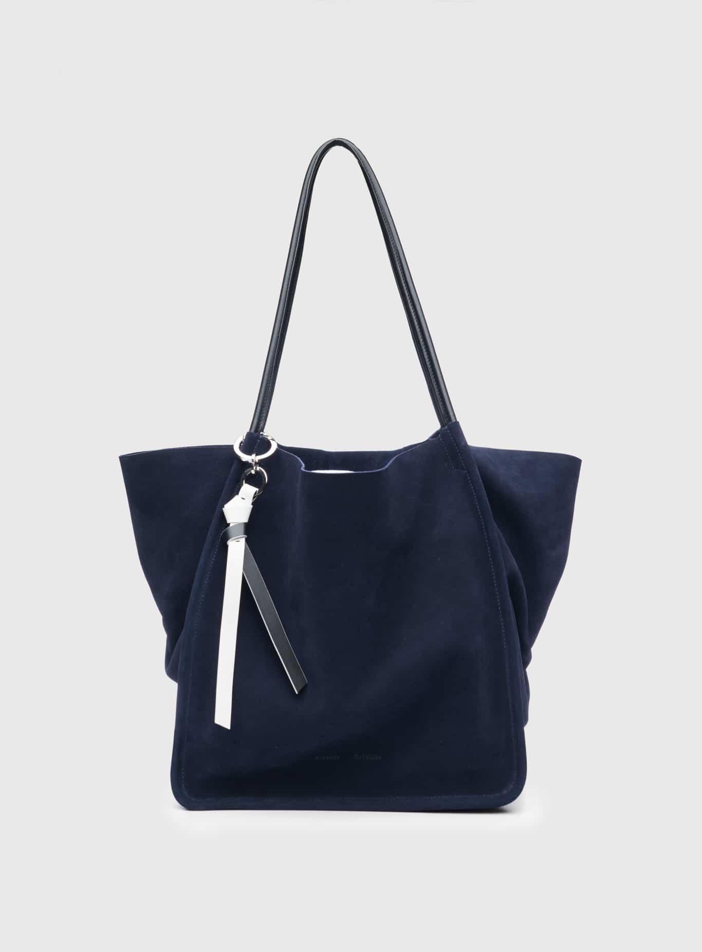 688cc8108a55 Proenza Schouler Indigo Suede Extra Large Tote Bag