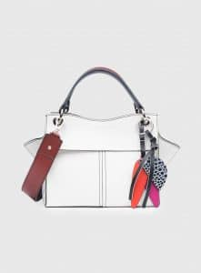 Proenza Schouler Optic White Curl Top Handle Bag